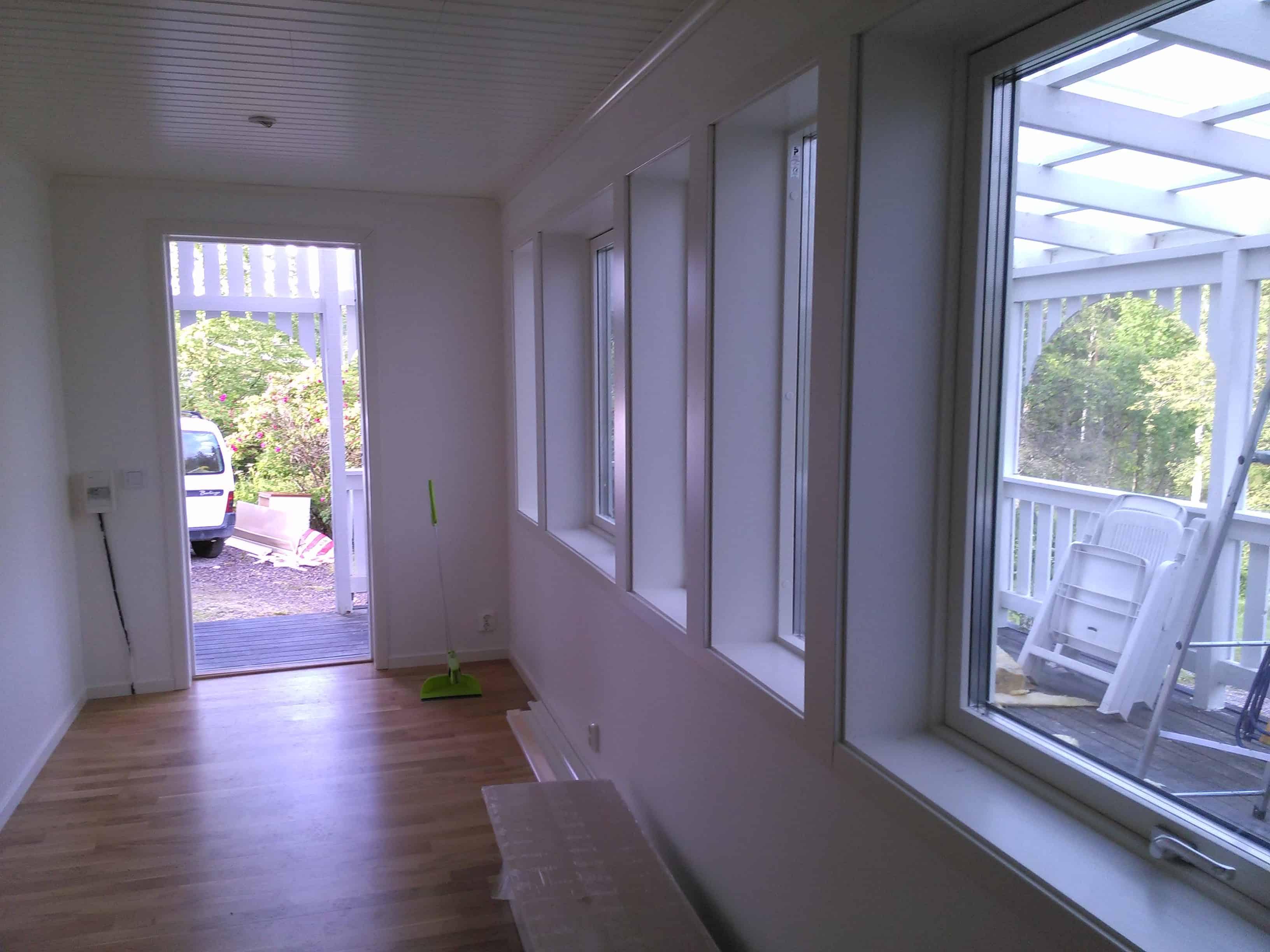 """Referensjobb """"Hus renovering."""" utfört av Byggtill i Gävle AB"""
