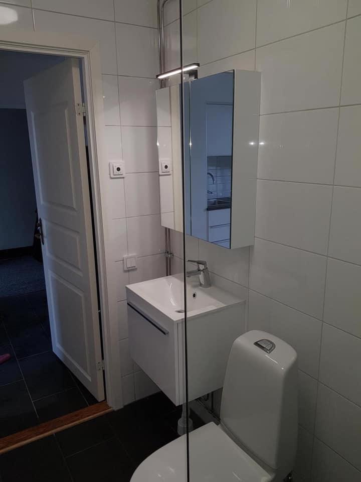 """Referensjobb """"VVS i badrum"""" utfört av Poseidon VVS AB"""