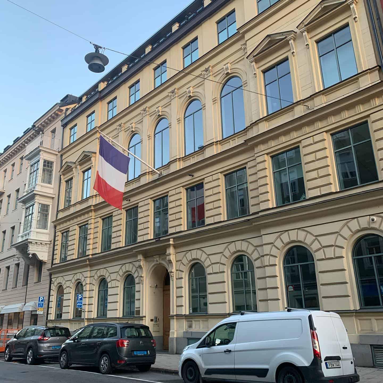 """Referensjobb """"Fasadrenovering på Franska ambassaden"""" utfört av AXION BYGGSERVICE AB"""