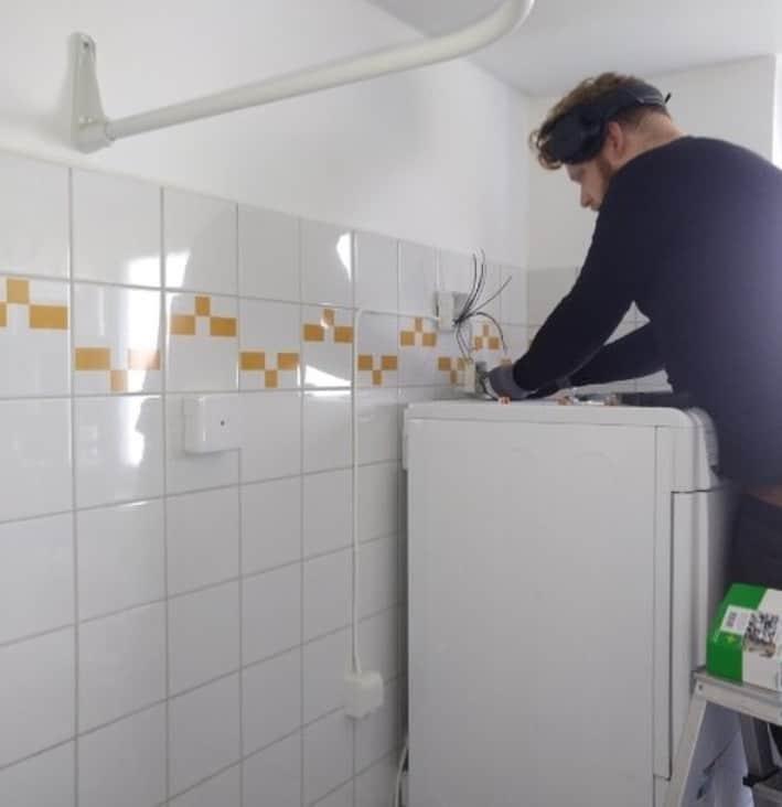 """Referensjobb """"Installation av tvättmaskin.🧺"""" utfört av BW Elektropartner International Aktiebolag"""