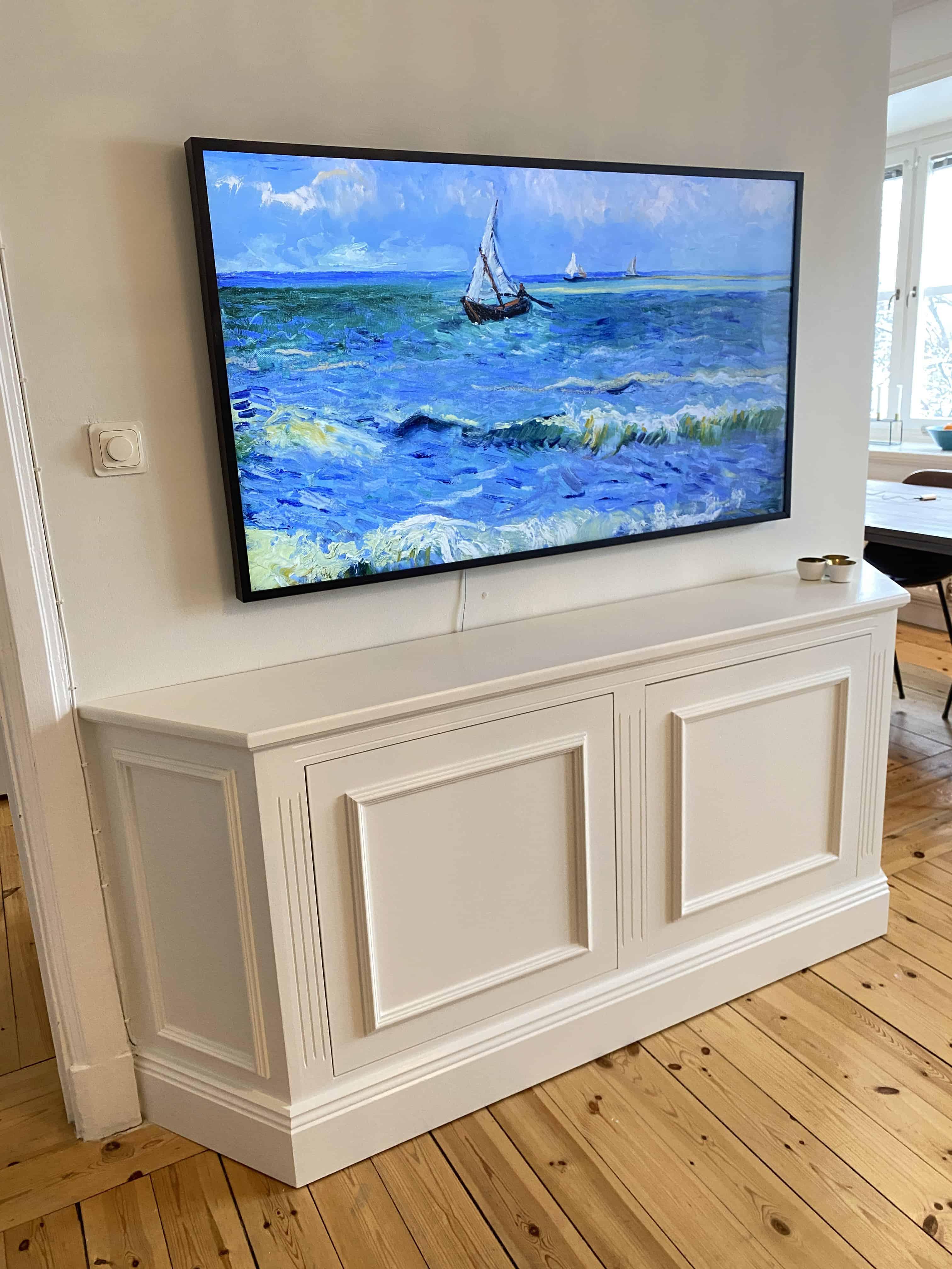 """Referensjobb """"TV-Bänk sekelskifte"""" utfört av AKSE Design & Bygg Handelsbolag"""
