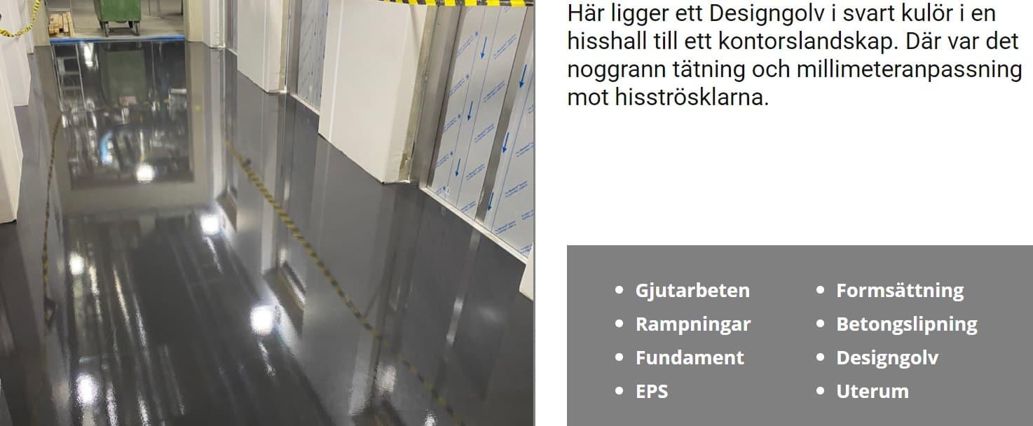 """Referensjobb """""""" utfört av Aditum Bygg & Golvavjämning AB"""