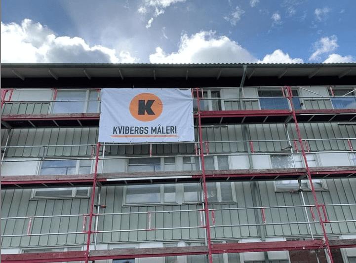 """Referensjobb """"Fasadmålning"""" utfört av Kvibergs Måleri och Entreprenad AB"""