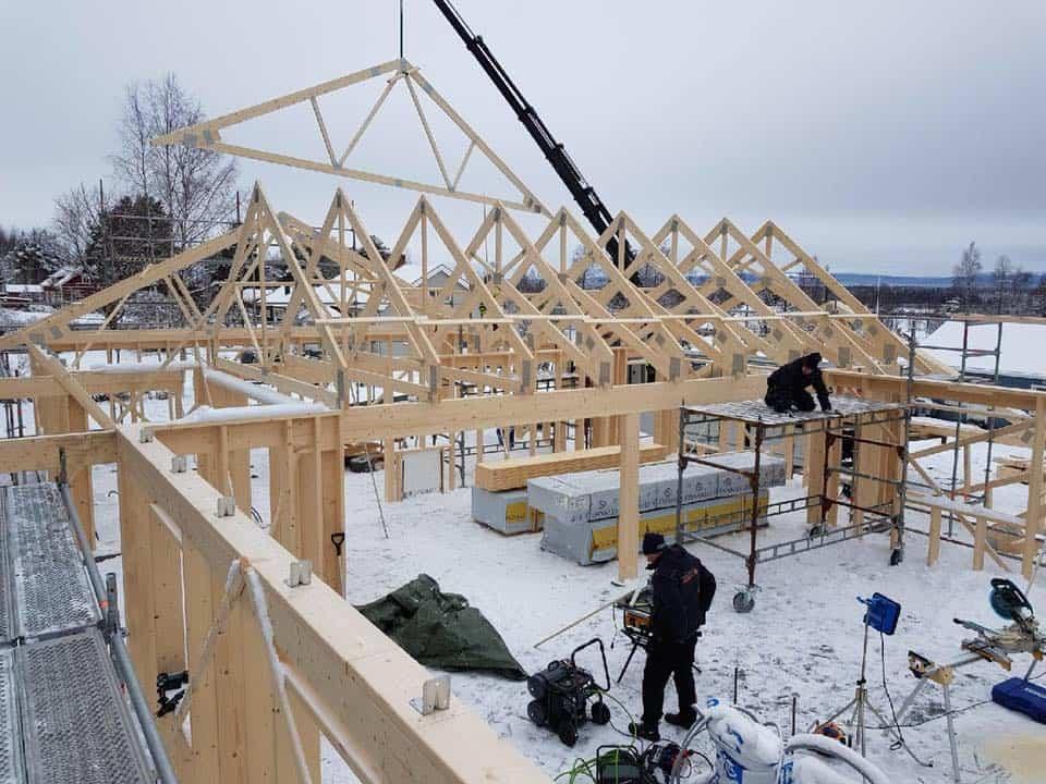 """Referensjobb """"Nybyggnation före."""" utfört av Dahlins Byggtjänst AB"""