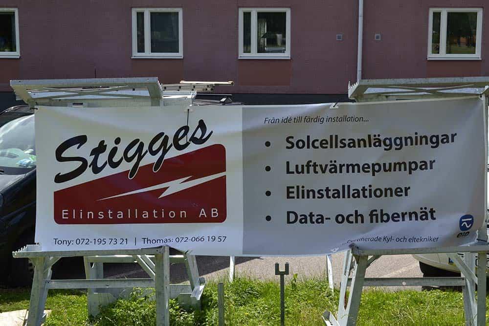 """Referensjobb """"Solceller, Värmepumpar, Elinstallationer, data- fiber."""" utfört av Stigges Elinstallation AB"""