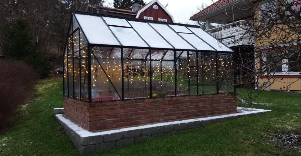 """Referensjobb """"Växthus"""" utfört av RKS Mark & Trädgård AB"""