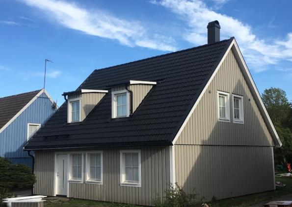 "Referensjobb ""Nytt tak - Takrenovering - Takkupor - Fasadbyte "" utfört av Extenter Hus AB"