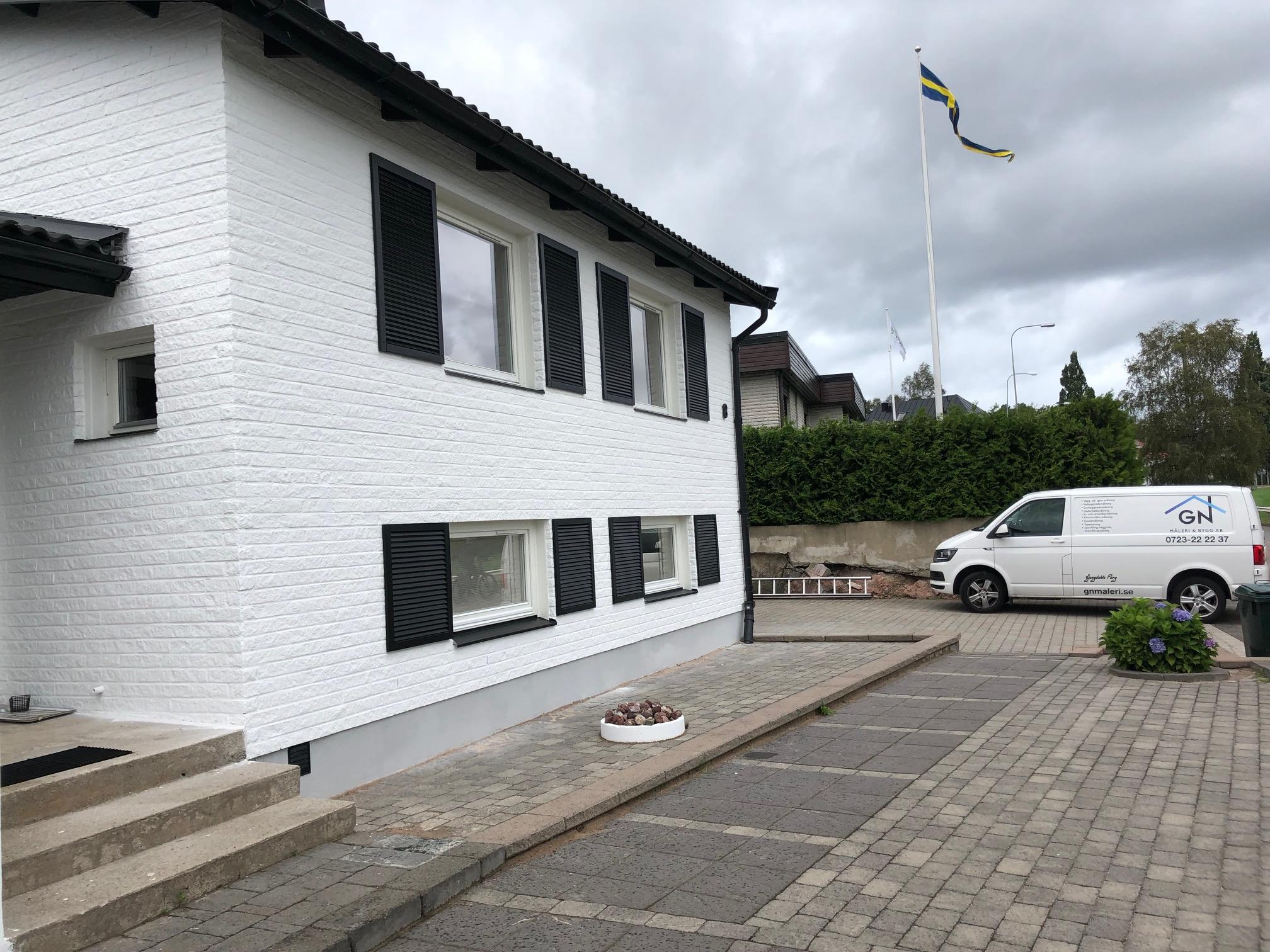 """Referensjobb """"Fasadmålning"""" utfört av GN Måleri och Bygg AB"""