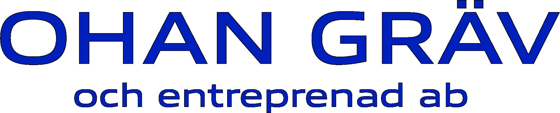Logotyp för Ohan Gräv och Entreprenad AB