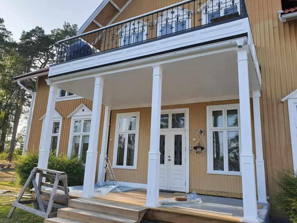 """Referensjobb """"Snygg veranda i Bonäset!"""" utfört av Schaub WoodWorks"""