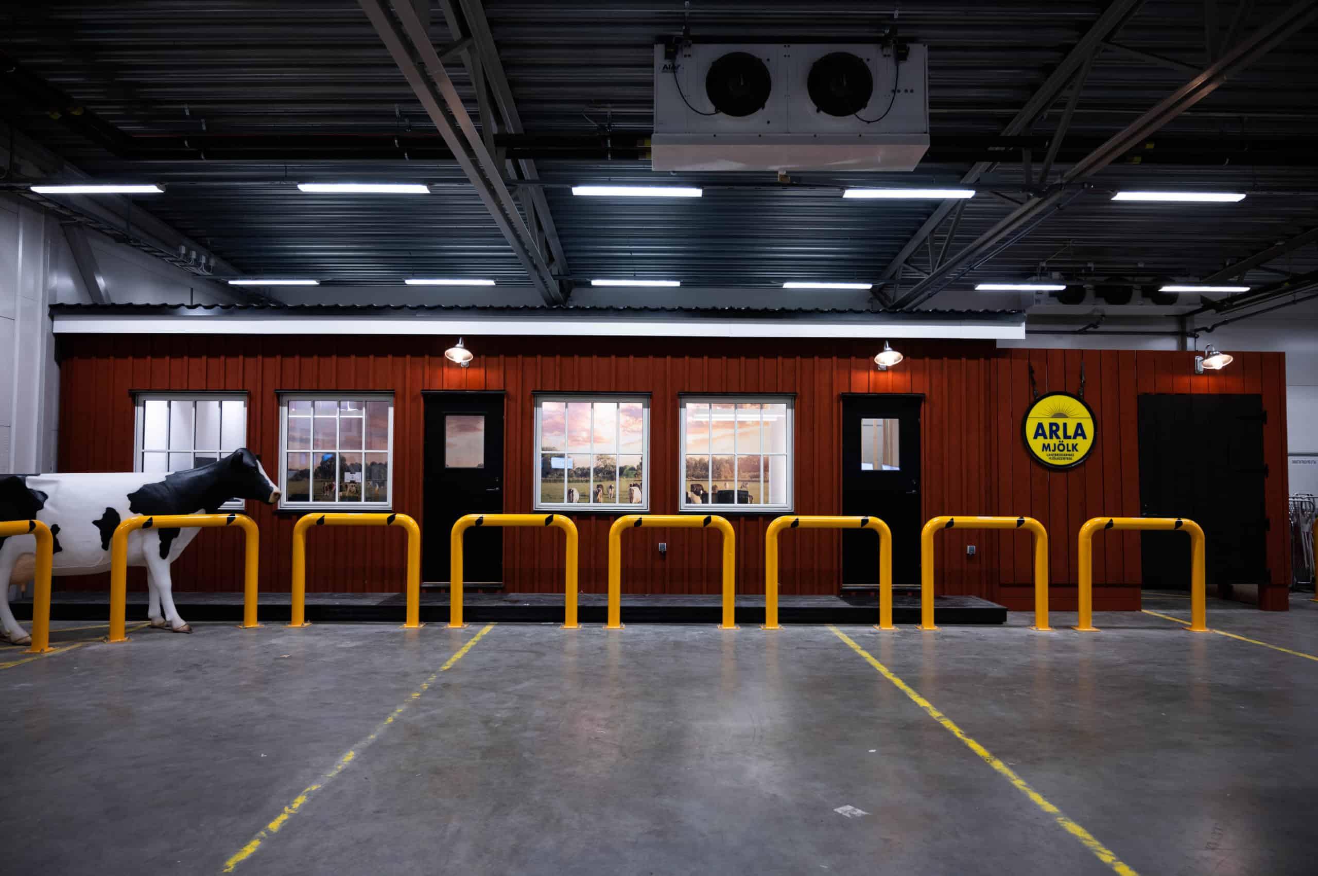 """Referensjobb """"Kontor som vi byggt inomhus på kyllager hos Arla Foods AB"""" utfört av Nordiska Effekt Byggen AB"""