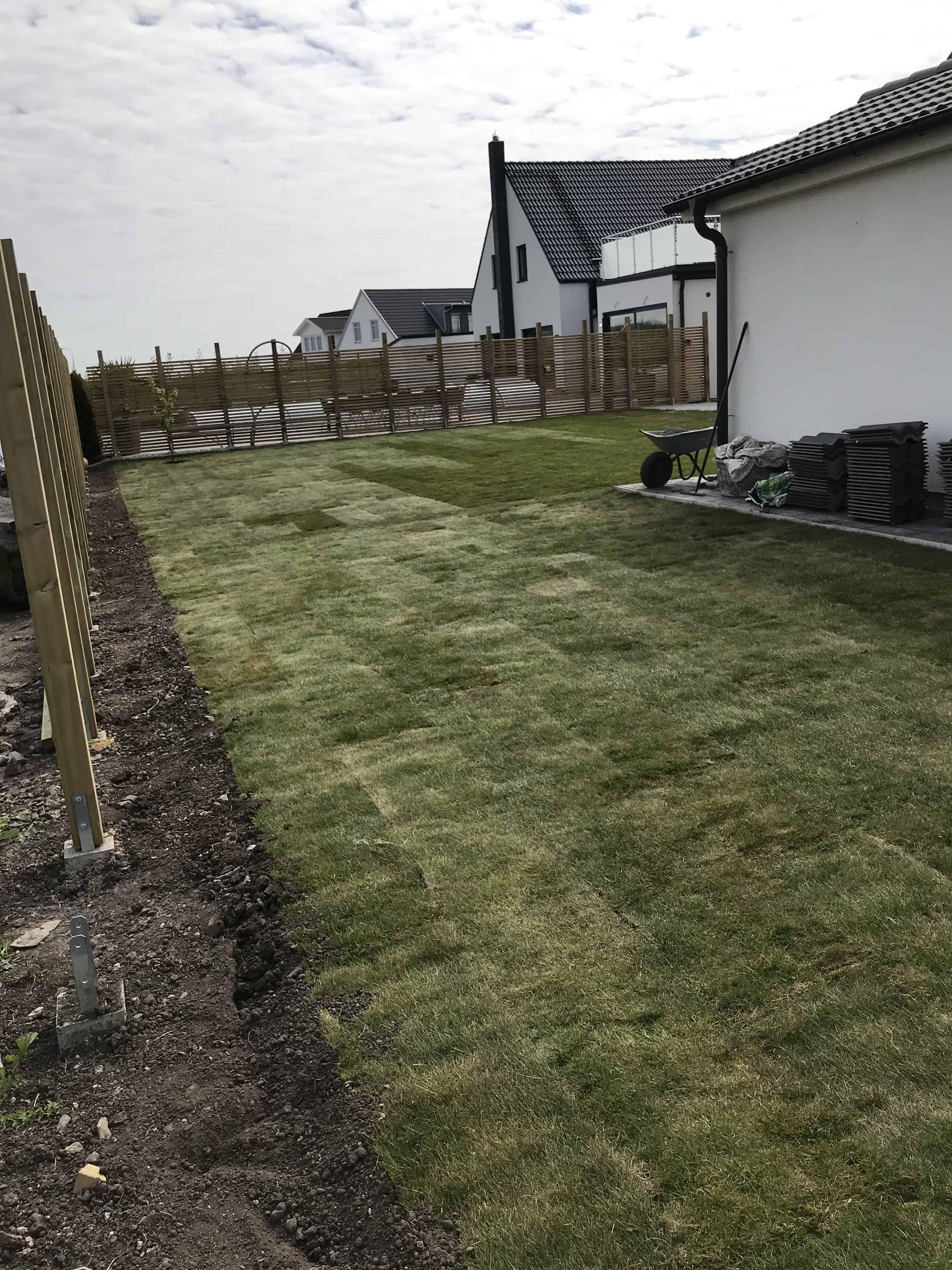 """Referensjobb """"Ny gräsmatta"""" utfört av Trädgårdsbröder"""
