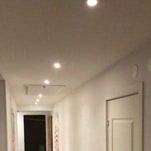 """Referensjobb """"Renovering hall , golv  , målning ,el."""" utfört av Merxton Bygg AB"""