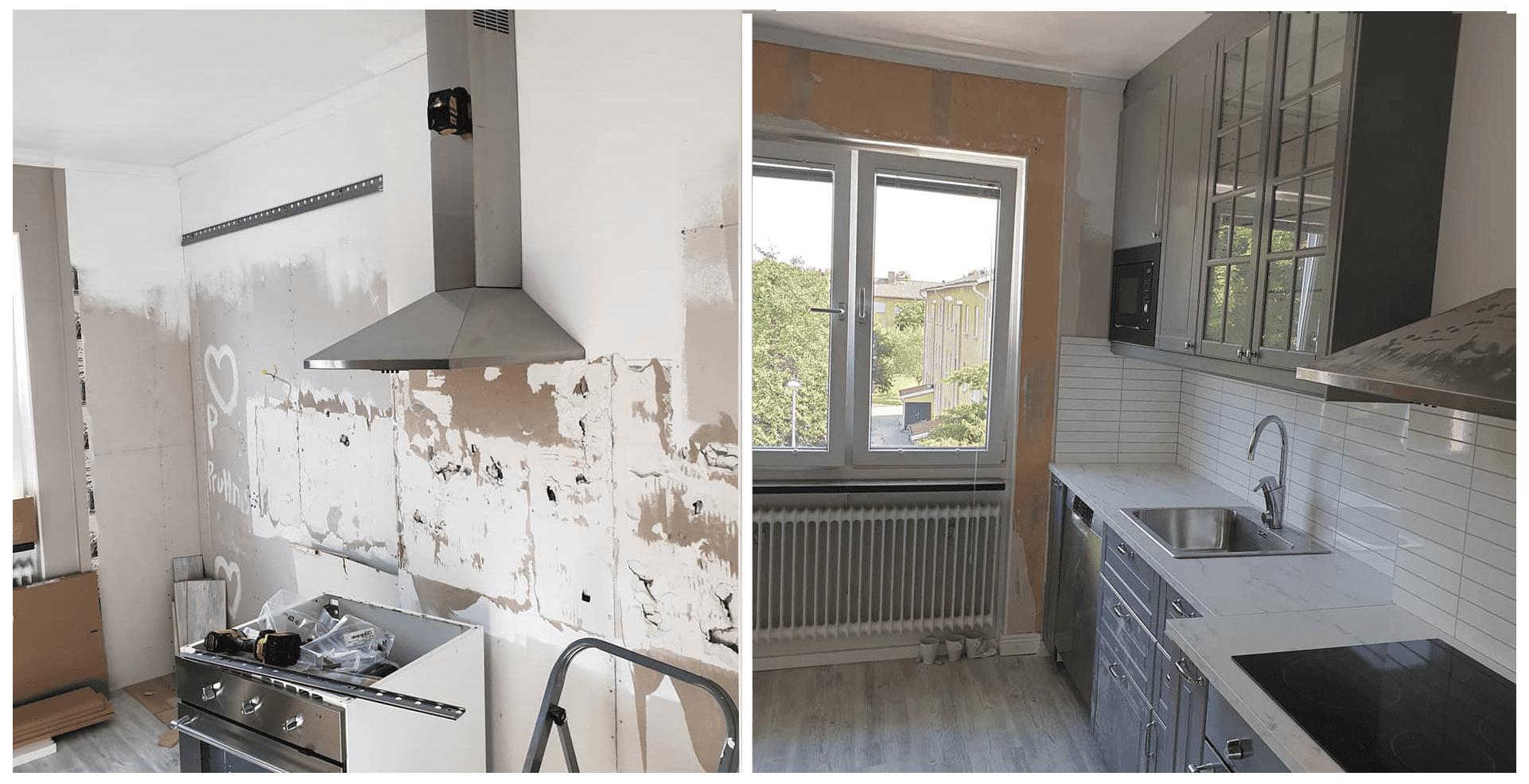 "Referensjobb ""Kitchen (Before/After)"" utfört av NFD Bygg"
