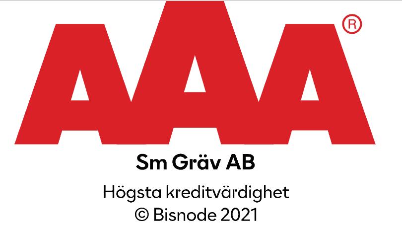 """Referensjobb """"AAA"""" utfört av SM Gräv AB"""