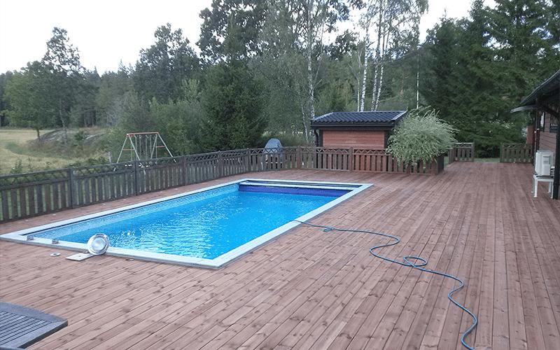 """Referensjobb """"Pool"""" utfört av Evarsta Bygg AB"""