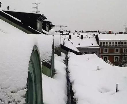 "Referensjobb ""Snöskottning"" utfört av UTE Tak Stockholm AB"