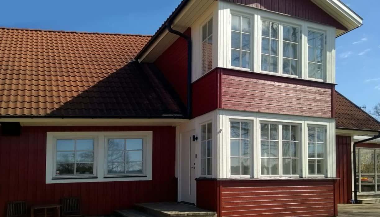 """Referensjobb """"Fasadrenovering"""" utfört av Alanex Bygg AB"""