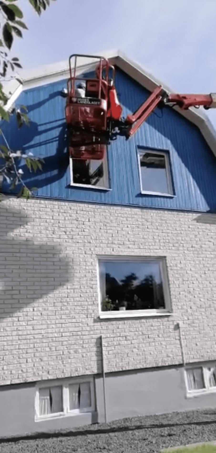 """Referensjobb """"Fasadmålning"""" utfört av Södra Tak & Fasad AB"""