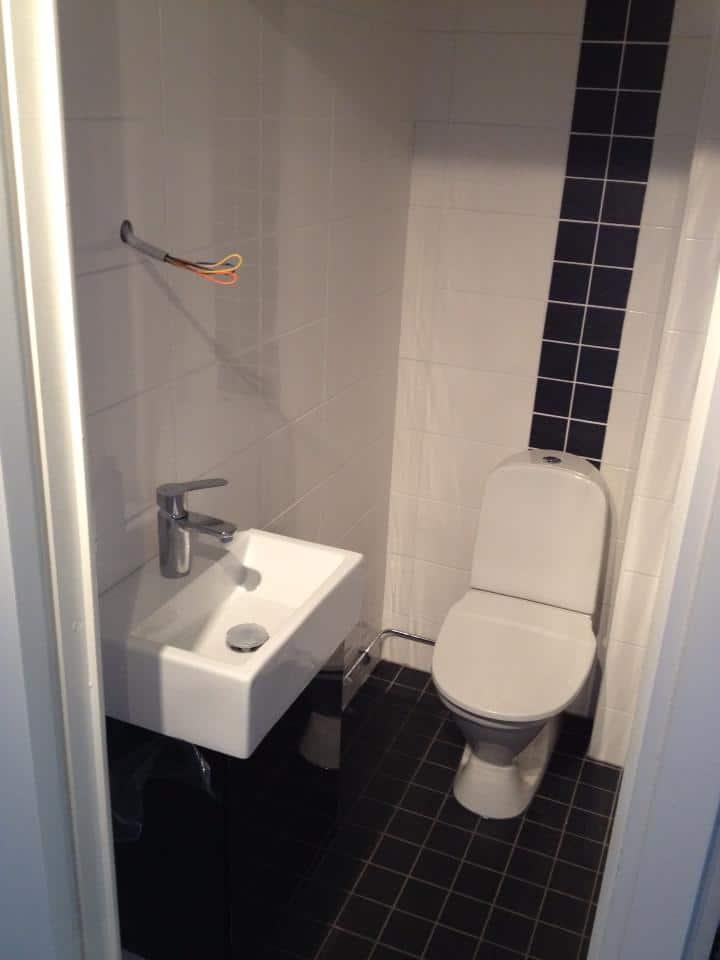 """Referensjobb """"Litet wc rum..."""" utfört av PETERSONS RÖRSERVICE"""