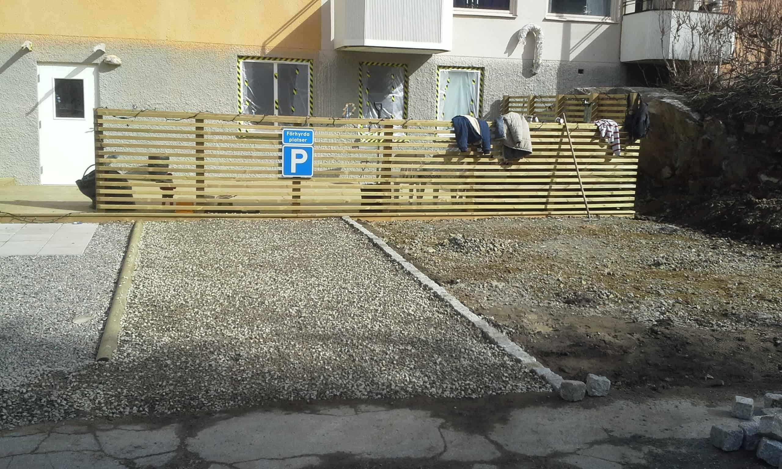 """Referensjobb """"Parkeringsplats/ Förening"""" utfört av Gröna Bussen AB"""
