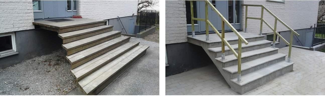 """Referensjobb """"Bygga om trapp"""" utfört av Gröna Bussen AB"""