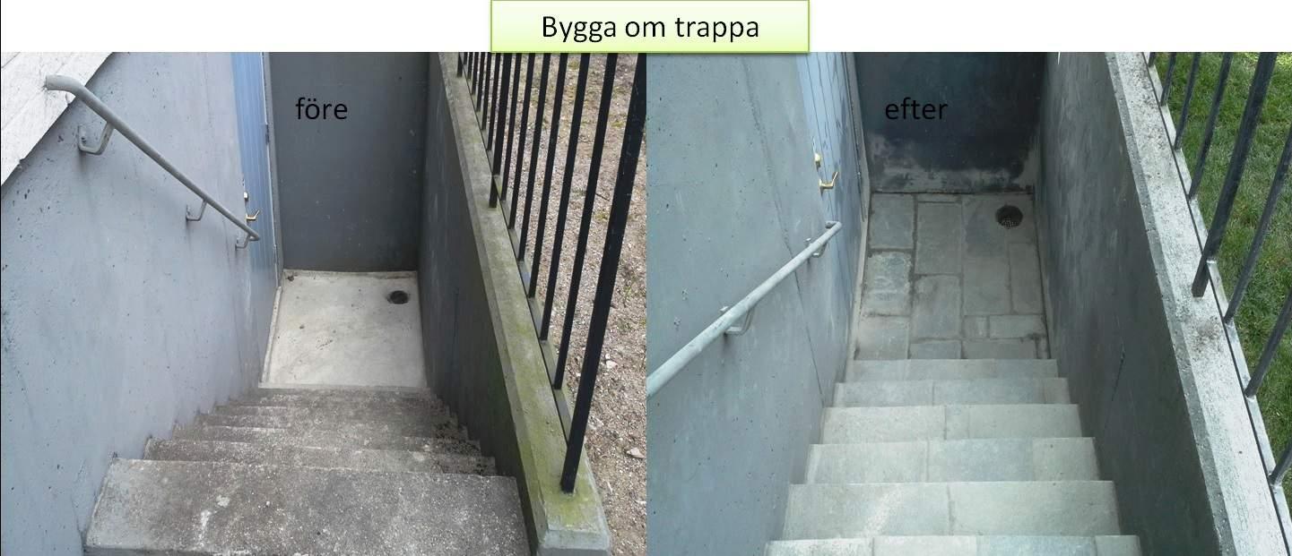 """Referensjobb """"Bygga om trapp ner till källaren"""" utfört av Gröna Bussen AB"""