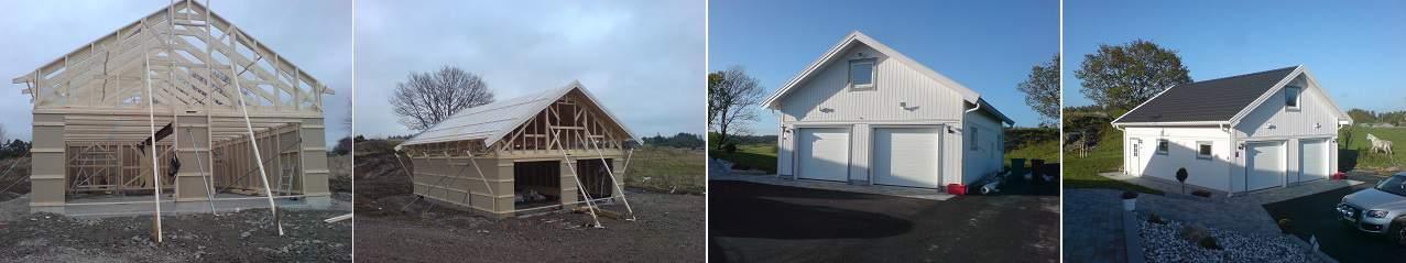 """Referensjobb """"Nybyggt garage"""" utfört av Lunneslätt Bygg"""