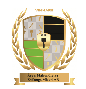 """Referensjobb """"Årets Måleriföretag 2015"""" utfört av Kvibergs Måleri AB"""
