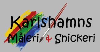 Logotyp för Karlshamns Måleri och Snickeri AB