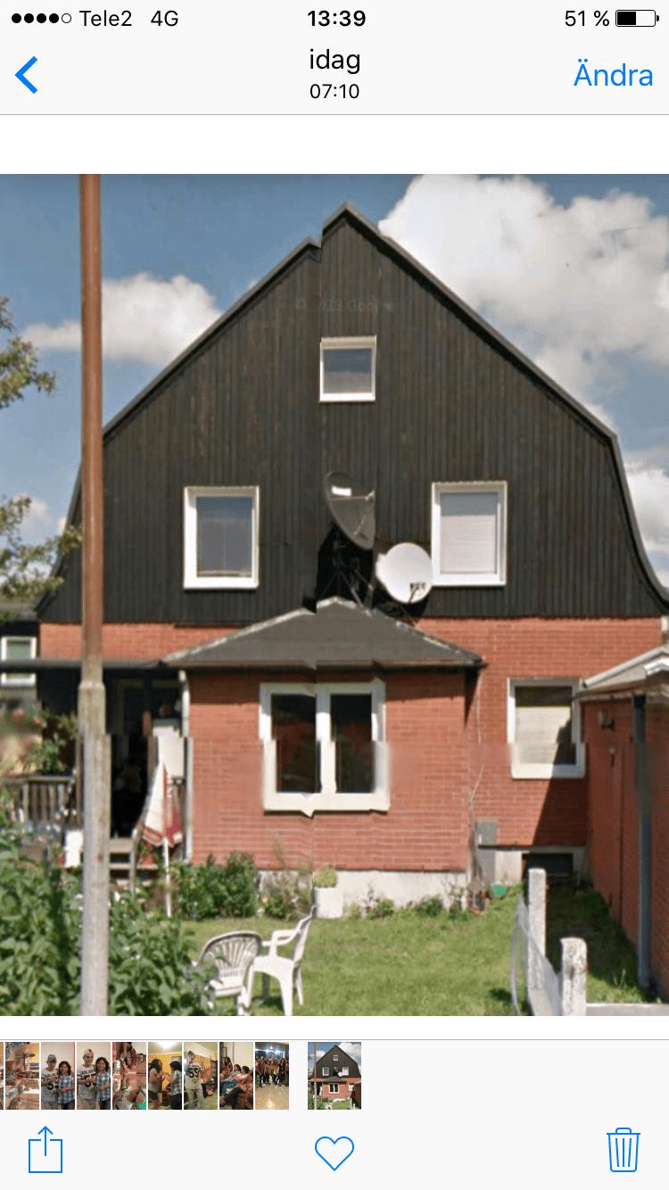 """Referensjobb """"Bandtäckning + fasad"""" utfört av Plåt och Bygg Delgado AB"""