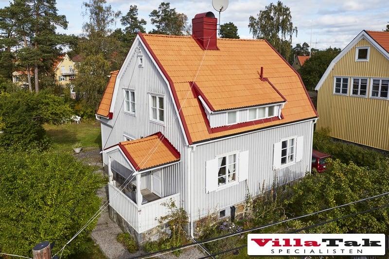 """Referensjobb """"Takomläggning Alviskvägen """" utfört av Villatak Specialisten i Stockholm"""
