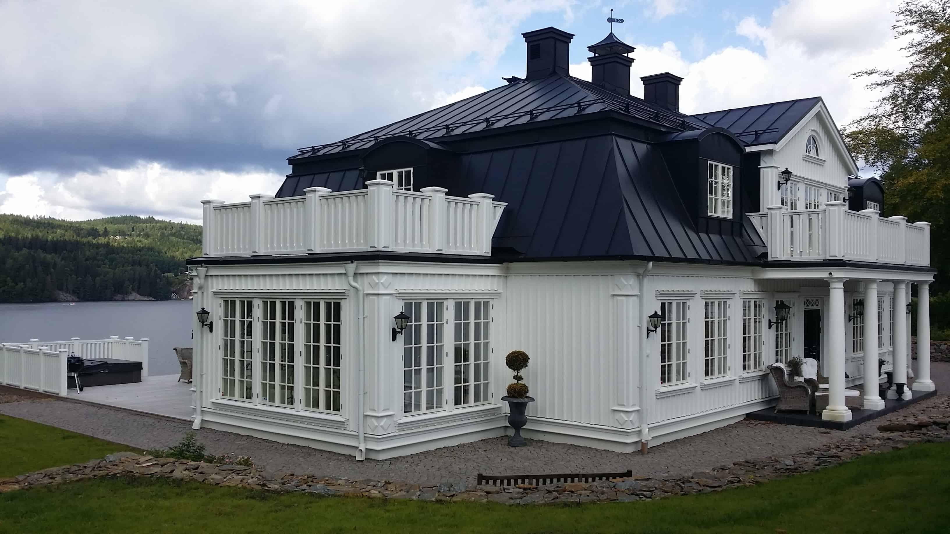 """Referensjobb """"Nybyggnad villa"""" utfört av Viskans Plåtslageri AB"""