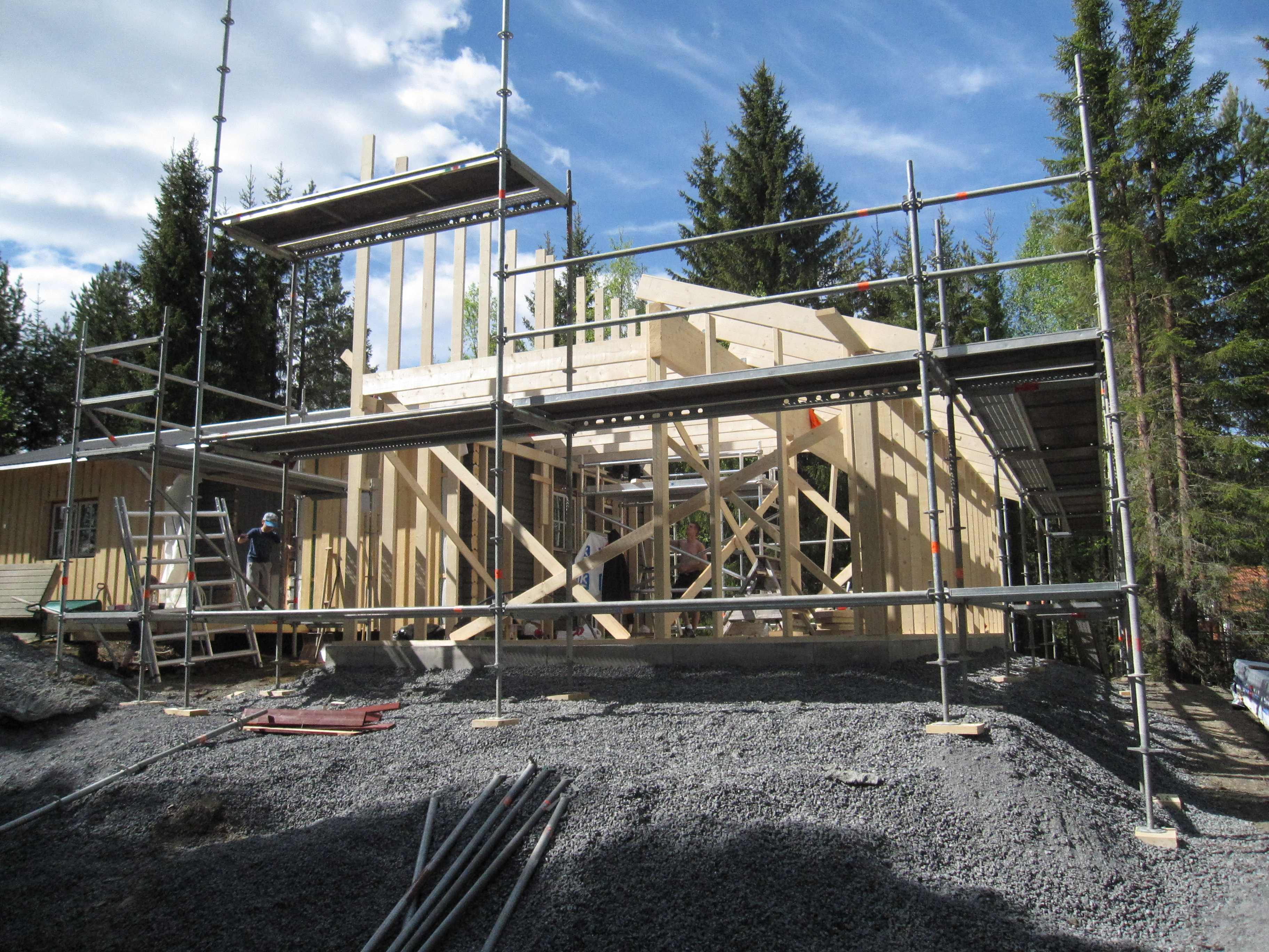 """Referensjobb """"Nybyggnation av småhus """" utfört av FJÄLS Bygg AB"""