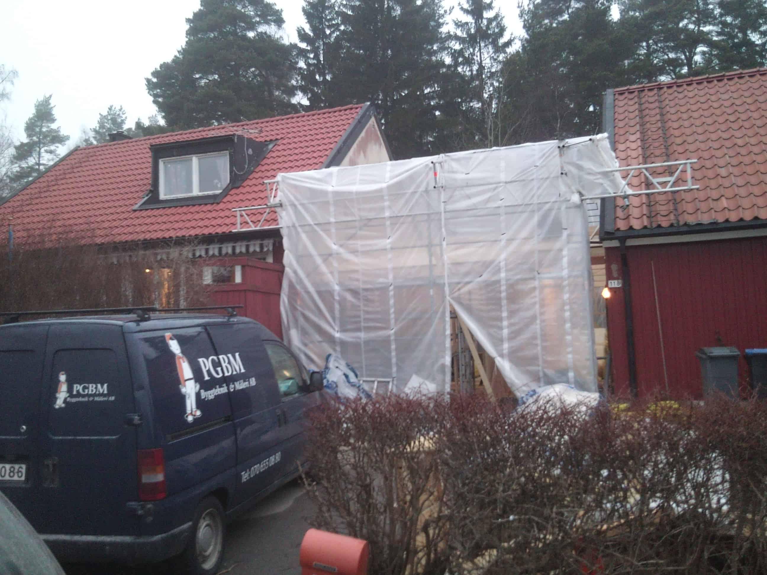 "Referensjobb ""Garage blev boende."" utfört av PGBM Byggteknik & Måleri AB"