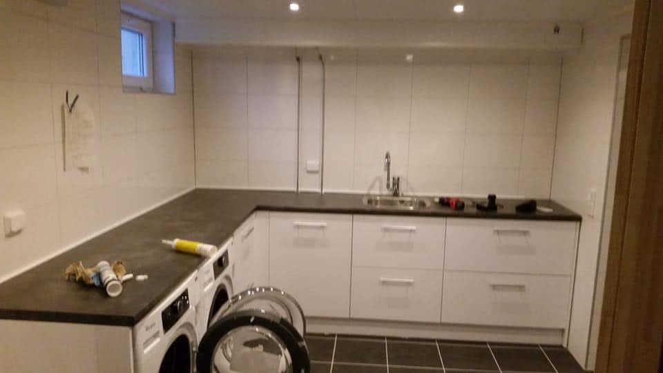 """Referensjobb """"Renovering av tvättstuga"""" utfört av ANKR Entreprenad AB"""