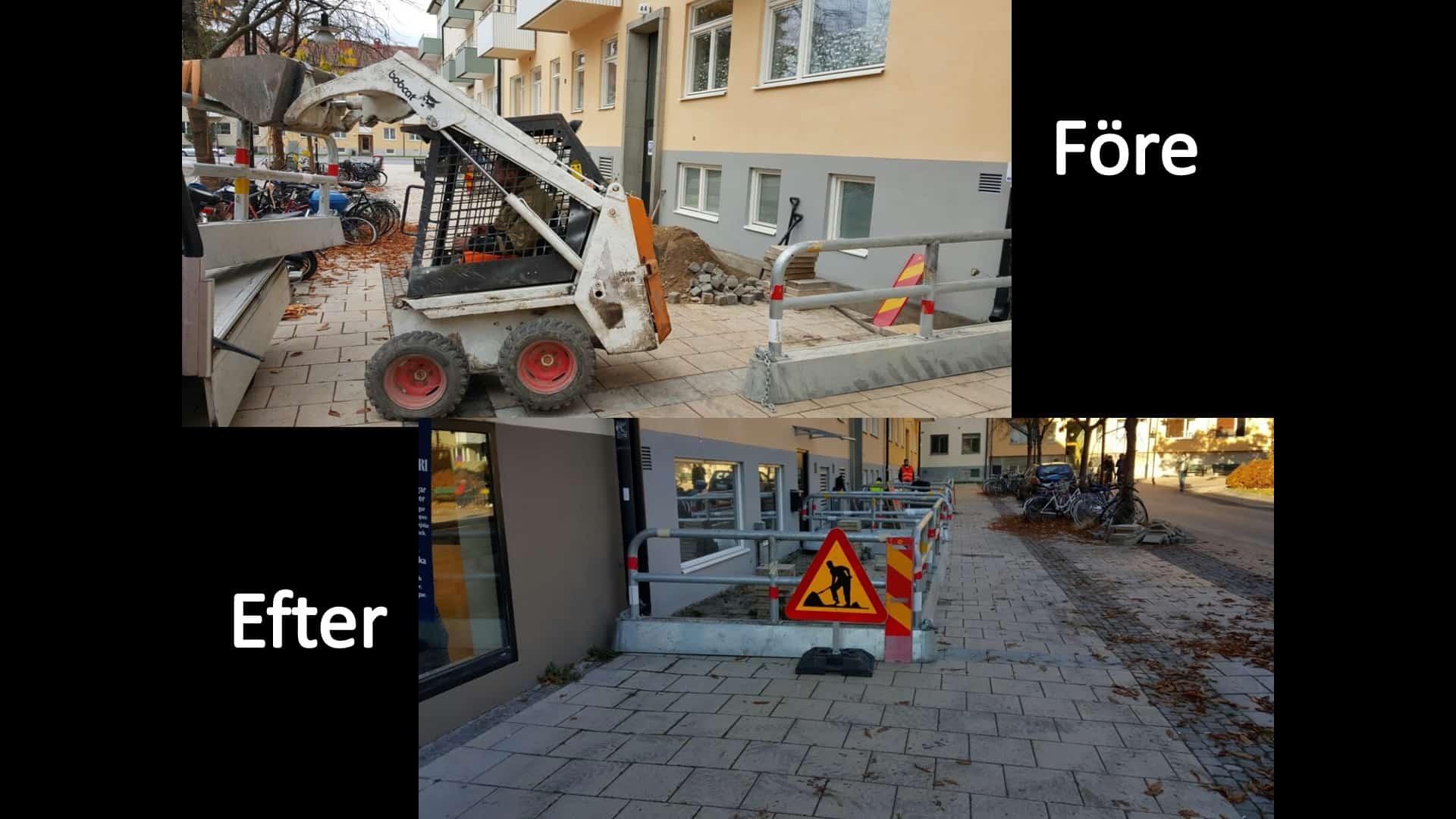 """Referensjobb """"Dränering// Solna Förening"""" utfört av Gröna Bussen AB"""
