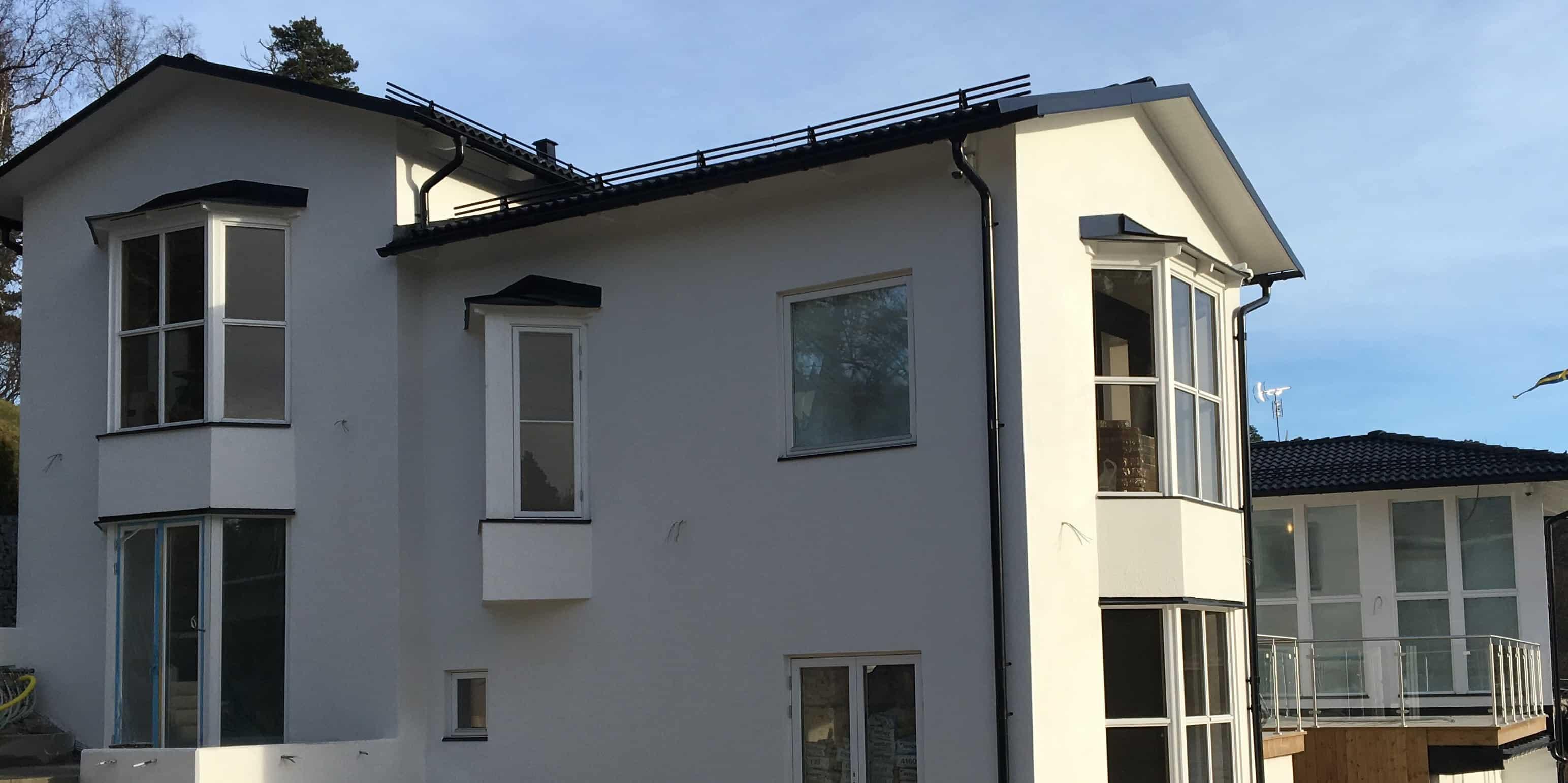 """Referensjobb """"Villa i Danderyd"""" utfört av Serafim Moderna Hus AB"""