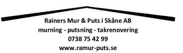 Logotyp för Rainers Mur&Puts i Skåne AB