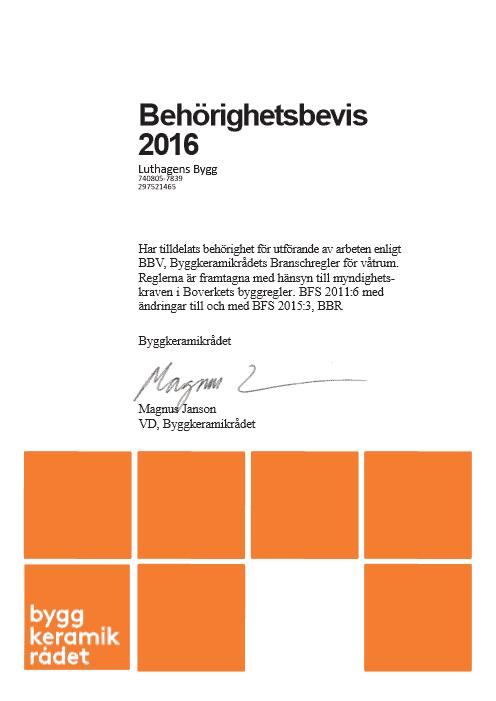 """Referensjobb """"BKR 2016"""" utfört av Luthagens Bygg"""