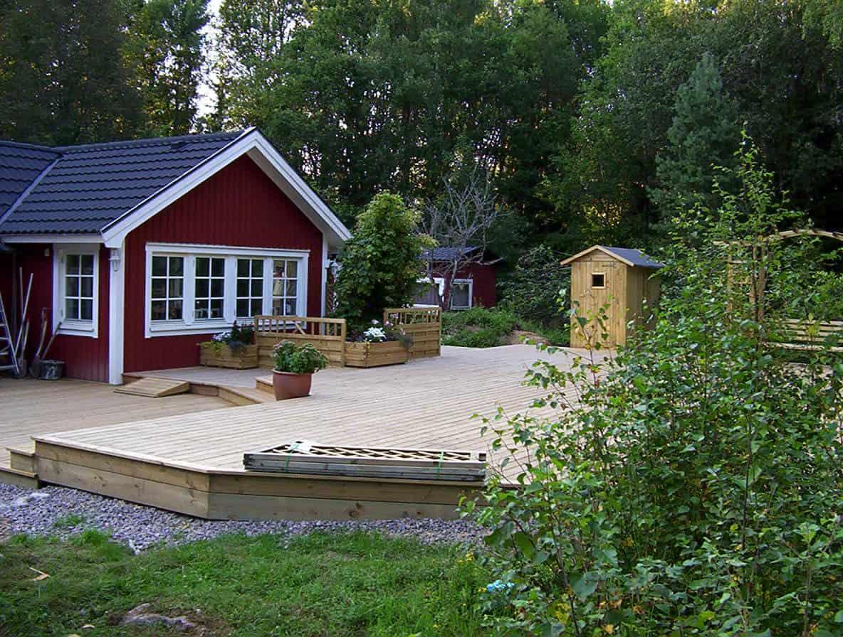 """Referensjobb """"Träveranda"""" utfört av Stockholms Bygg och Trädgårdsmästeri AB"""