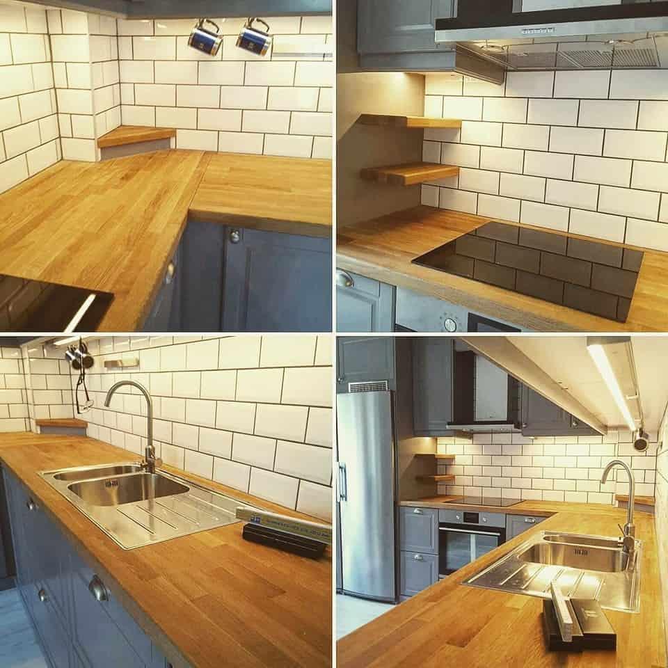 """Referensjobb """"Köksrenovering"""" utfört av Skadeservice Dalarö AB"""