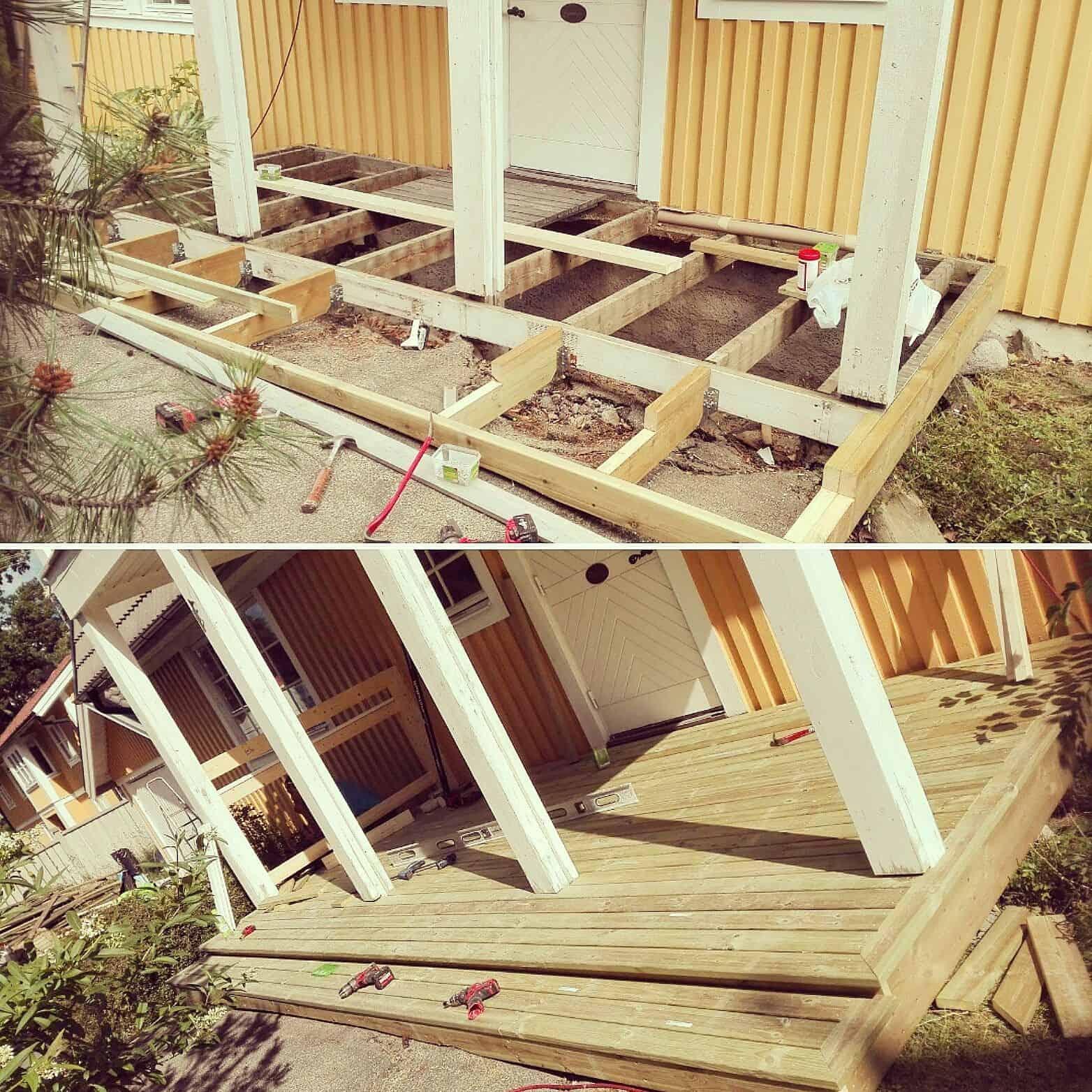 """Referensjobb """"Renovering"""" utfört av Skadeservice Dalarö AB"""