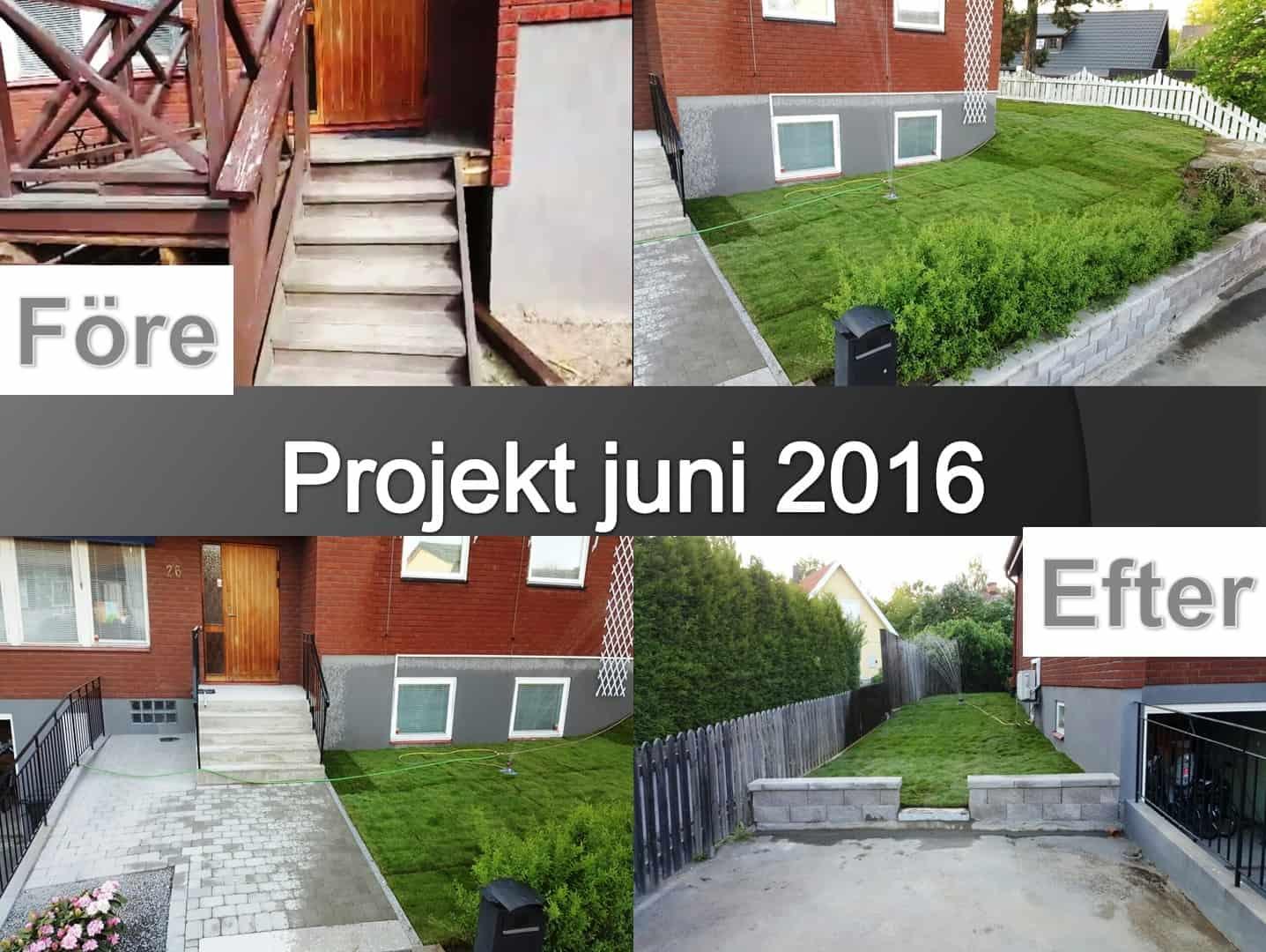 """Referensjobb """"Murarbete_trapparbete_Stensättning_gräsanläggning"""" utfört av Gröna Bussen AB"""
