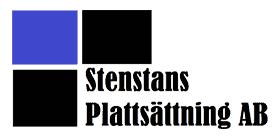 Logotyp för Stenstans Plattsättning AB