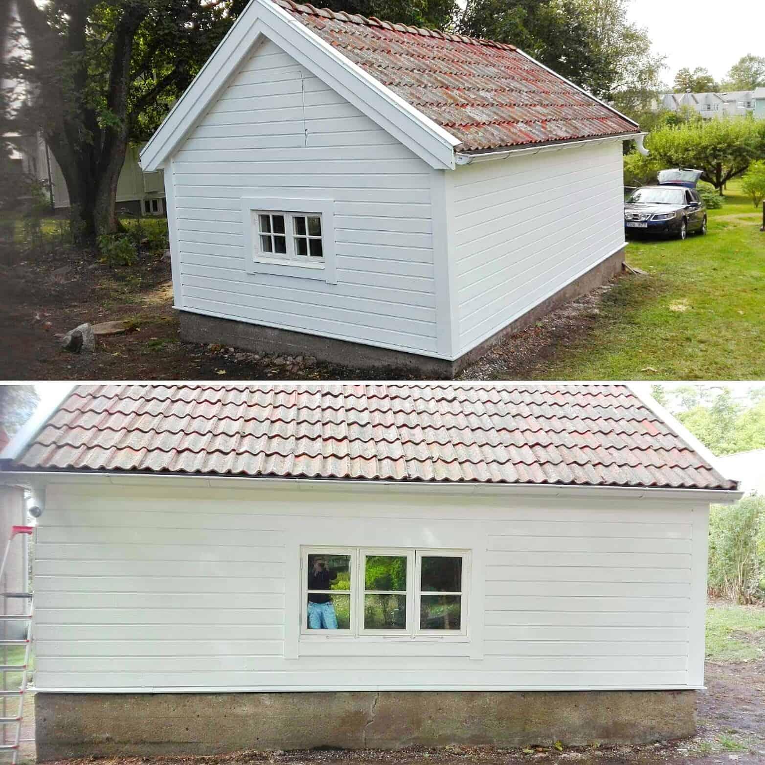 """Referensjobb """"Garage """" utfört av Skadeservice Dalarö AB"""