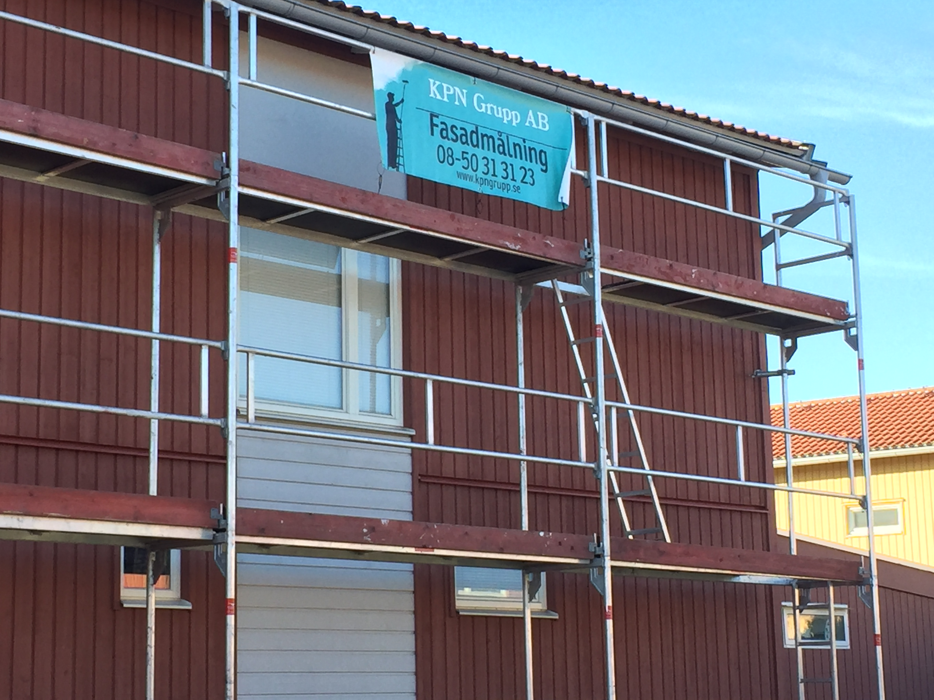 """Referensjobb """"Fasadmålning"""" utfört av KPN Grupp AB"""