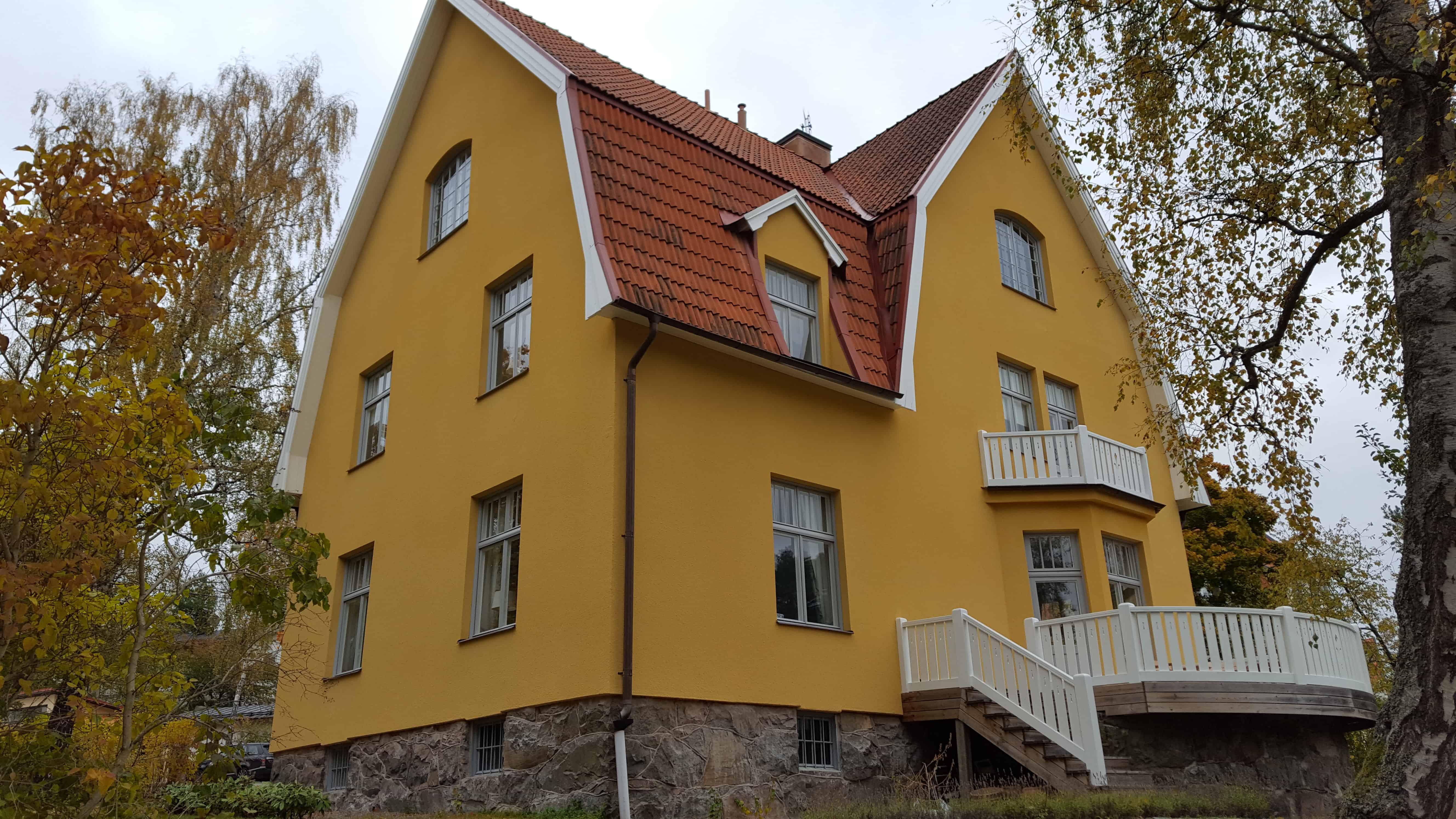 """Referensjobb """"Fasadrenovering Lidingö"""" utfört av XLent Tak & Fasad AB"""