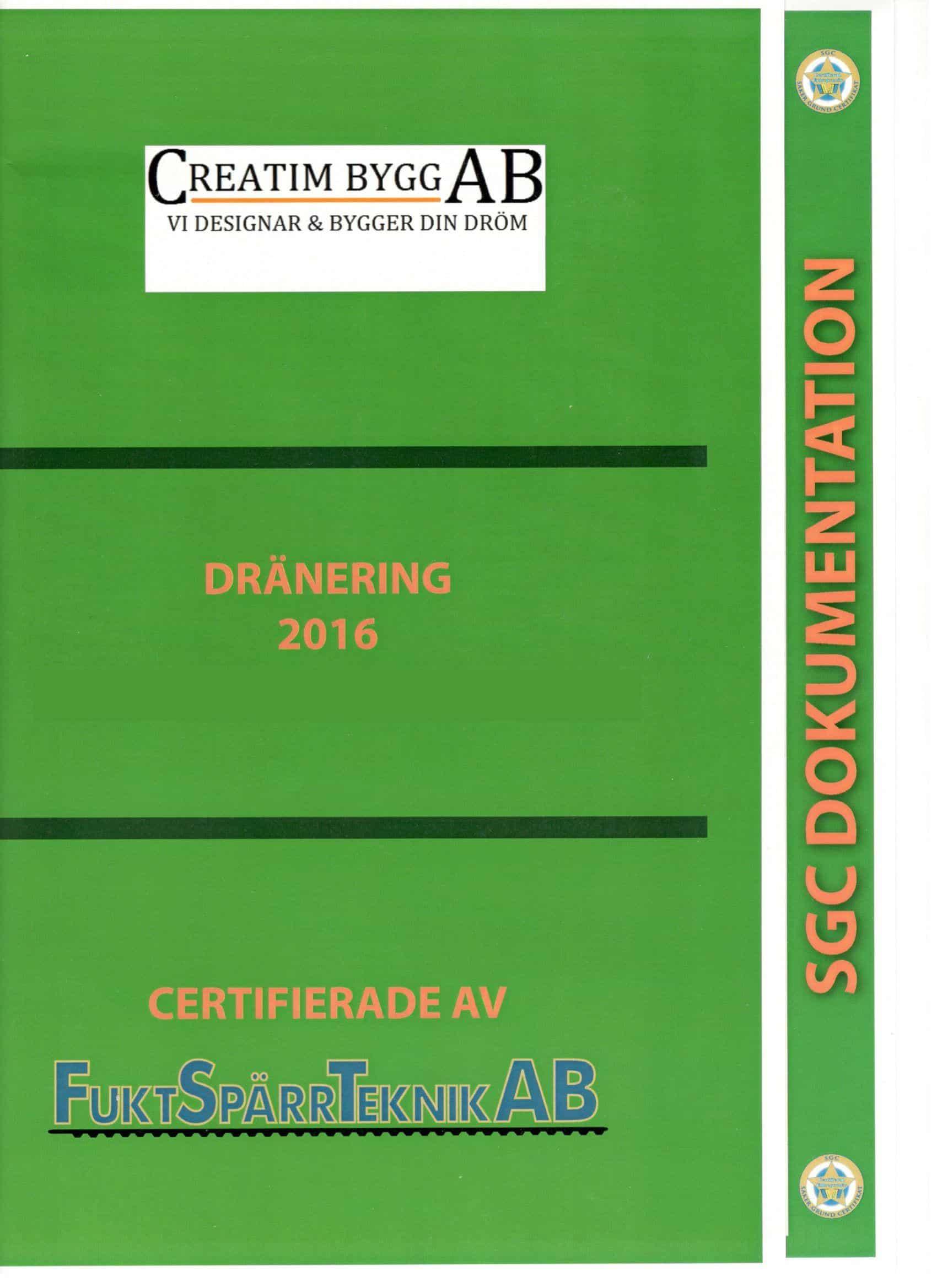 """Referensjobb """"Certifiering Fuktspärr"""" utfört av Creatim AB"""