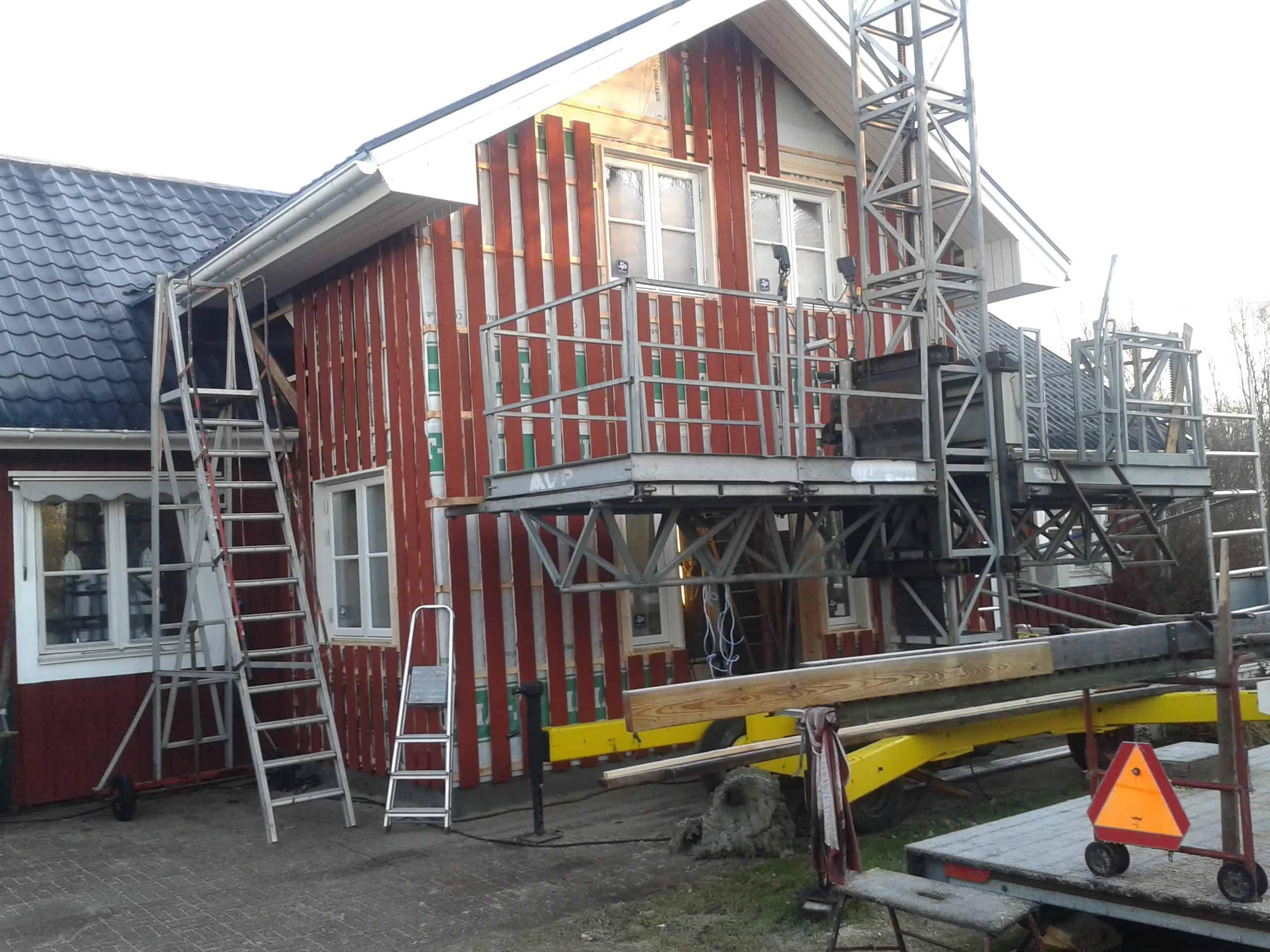 """Referensjobb """"Utbyggnad"""" utfört av Hantverkartjänster I Norrbotten"""